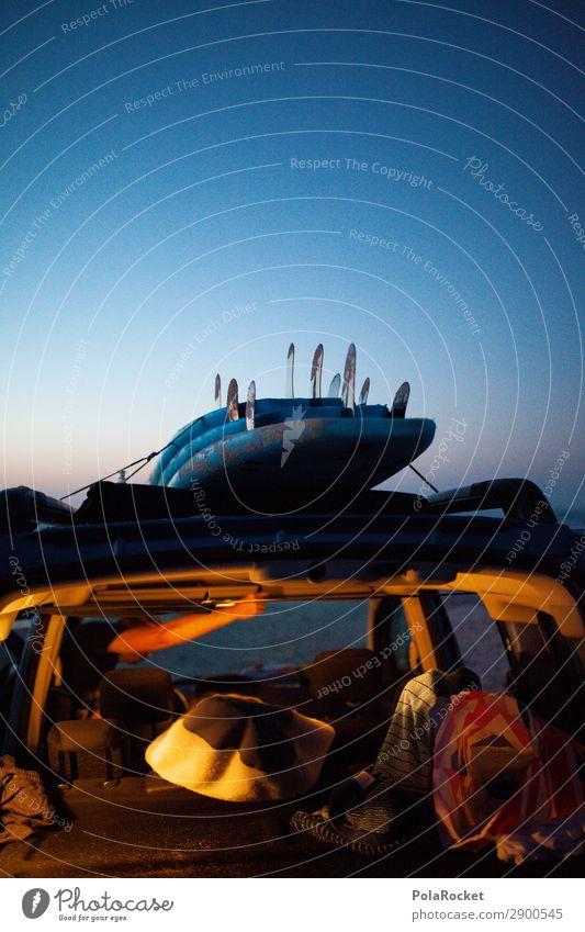 #A# call it a day Kunst ästhetisch Surfen Surfer Surfbrett Surfschule Erholung Idylle PKW Ferien & Urlaub & Reisen Urlaubsfoto Urlaubsstimmung Urlaubsgrüße