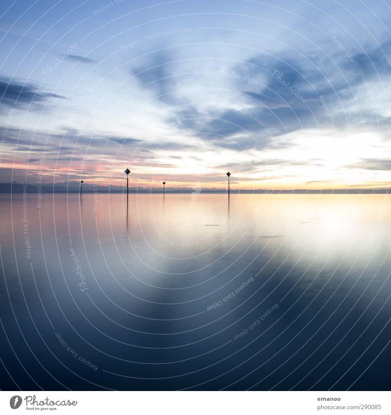 Bodensee Himmel Natur blau Ferien & Urlaub & Reisen Wasser Einsamkeit Winter Wolken Landschaft Ferne Berge u. Gebirge kalt Freiheit Küste See Luft