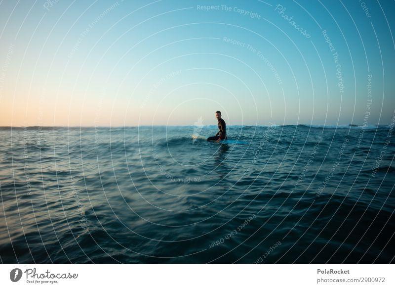 #AE# open water Kunst Kunstwerk ästhetisch Meer Meerwasser Surfen Surfer Surfbrett Surfschule blau Wellengang Freiheit Wasseroberfläche Fuerteventura Farbfoto