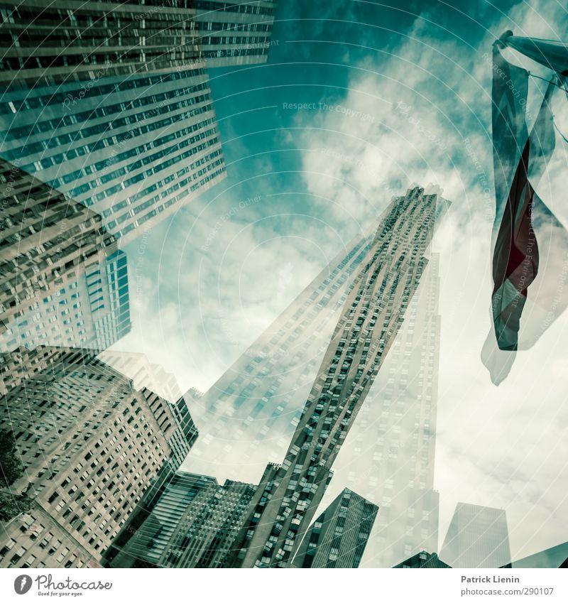 New York, New York Lifestyle Ferien & Urlaub & Reisen Tourismus Ausflug Abenteuer Ferne Stadt Skyline Hochhaus Bauwerk Gebäude Architektur Stimmung bizarr