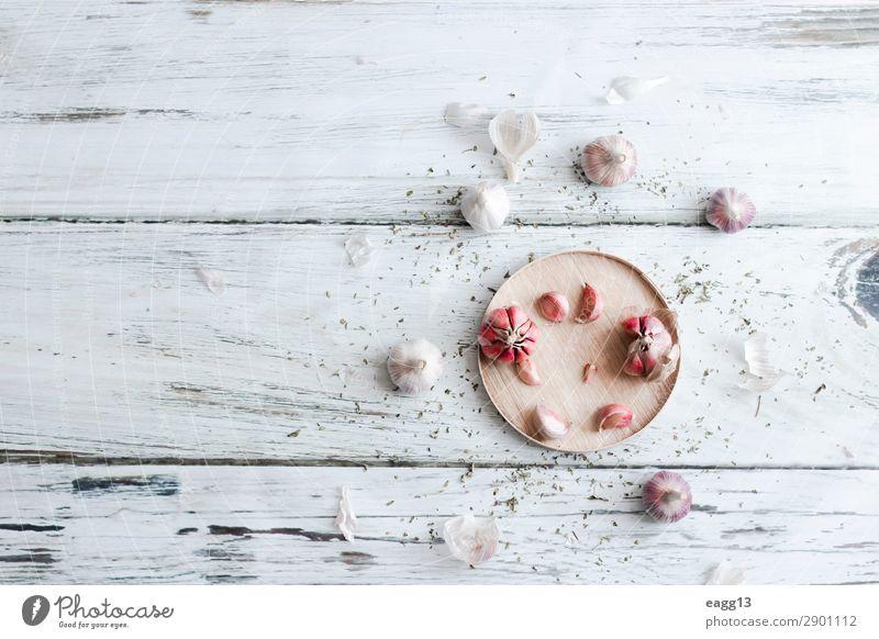 Ansicht mehrerer Knoblauchköpfe, vorbereitet zum Kochen Lebensmittel Gemüse Kräuter & Gewürze Ernährung Essen Vegetarische Ernährung Diät Küche Natur Pflanze