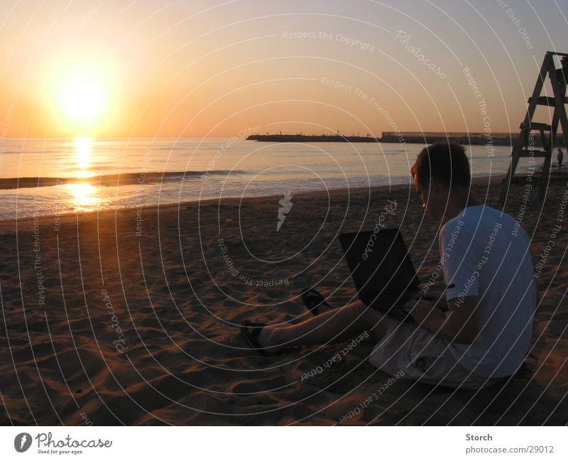 @ Beach Strand Notebook Sonnenaufgang Ferien & Urlaub & Reisen Meer Spanien Europa