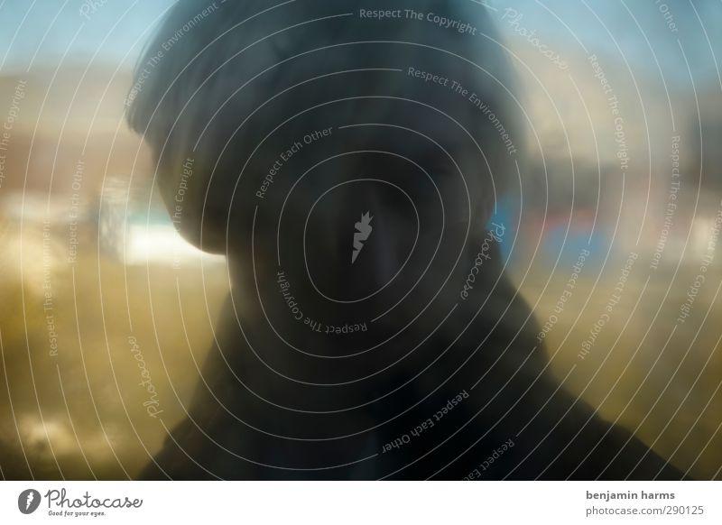 shadow maskulin Junger Mann Jugendliche 1 Mensch 18-30 Jahre Erwachsene unklar dezent geheimnisvoll Farbfoto Außenaufnahme abstrakt Textfreiraum links
