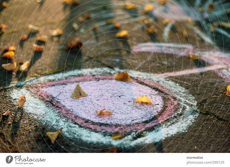 die Farben des neuen Jahres Lifestyle elegant Stil Freude Glück Freizeit & Hobby Kunst Kreidezeichnung Umwelt Herbst Schönes Wetter Blatt Platz Zeichen