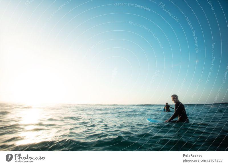 #AE# into the sun Meer Kunst Freundschaft ästhetisch Idylle Abenteuer Surfen Wassersport Surfer Wellengang Surfbrett Extremsport Surfschule