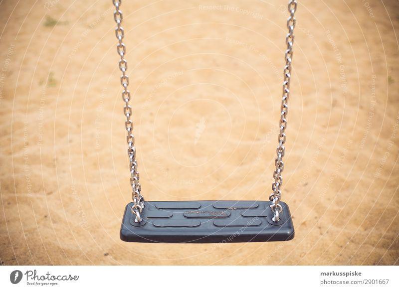 Kinderschaukel Spielplatz Sandkasten sportlich Wohlgefühl Freizeit & Hobby Spielen Kinderspiel Ferien & Urlaub & Reisen Ausflug Abenteuer Garten Feste & Feiern