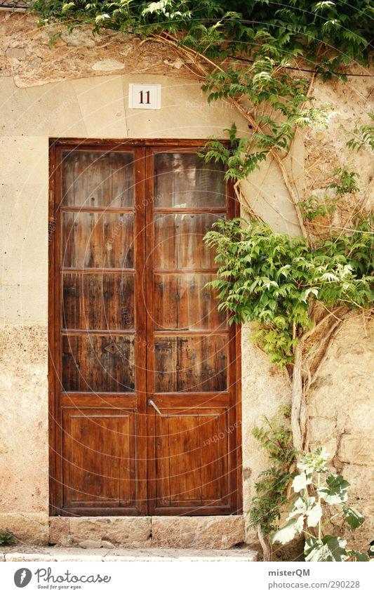 Seitentür Valldemossa. Kunst ästhetisch Eingang Eingangstür Spanien Mallorca verschlafen Dorf Tür Holztür mediterran verborgen südländisch Nostalgie historisch