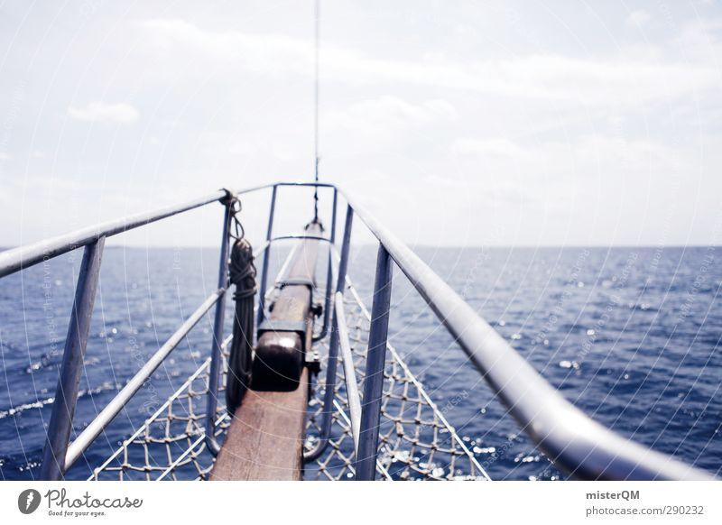 Zu neuen Horizonten. blau Ferien & Urlaub & Reisen Sommer Sonne Meer Erholung Reisefotografie Kunst Zukunft ästhetisch Abenteuer Unendlichkeit Segeln