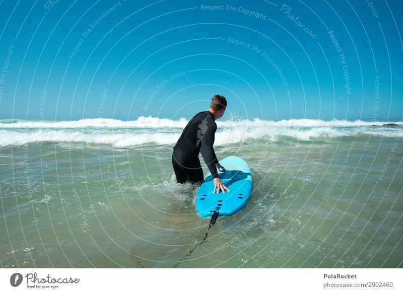 #AE# Going In blau Meer Kunst Wellen ästhetisch Surfen Surfer Surfbrett Fuerteventura Neoprenanzug Urlaubsstimmung Surfschule
