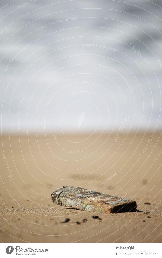 Lost. Natur Ferien & Urlaub & Reisen Meer Strand ruhig Umwelt Holz Küste Sand Wellen ästhetisch Wellness Paradies abgelegen Mittelmeer antik