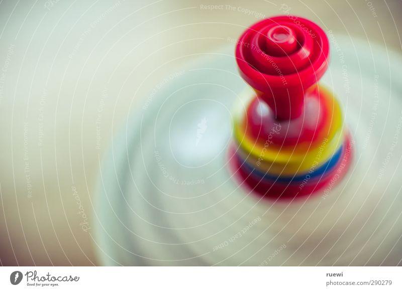 Brummkreisel Freizeit & Hobby Spielen Kinderspiel Kindergarten lernen Metall Kunststoff Bewegung drehen rund Geschwindigkeit blau gelb rot weiß Freude