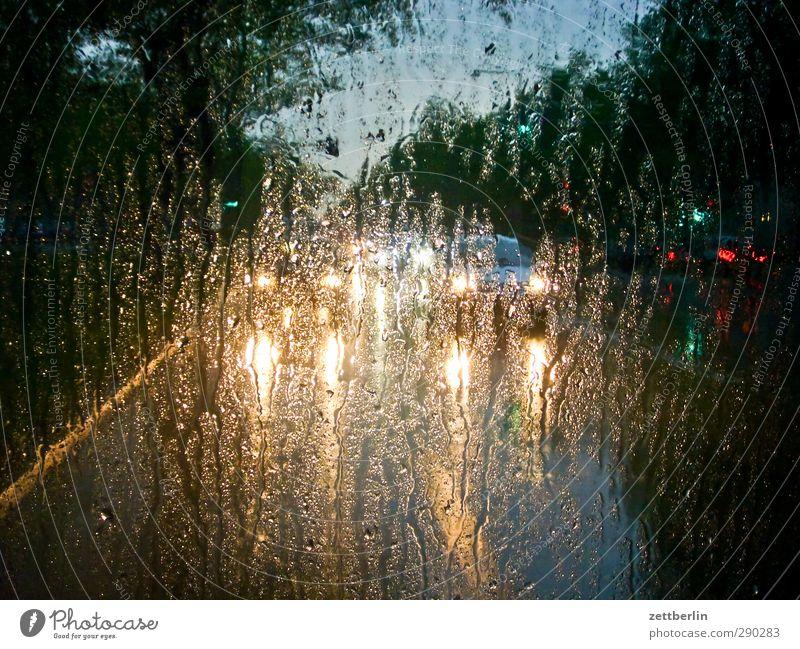 Regen Stadt Straße Wege & Pfade Traurigkeit PKW Klima Verkehr stehen Hoffnung Regenwasser Glaube Sehnsucht Schmerz Fahrzeug Stadtzentrum
