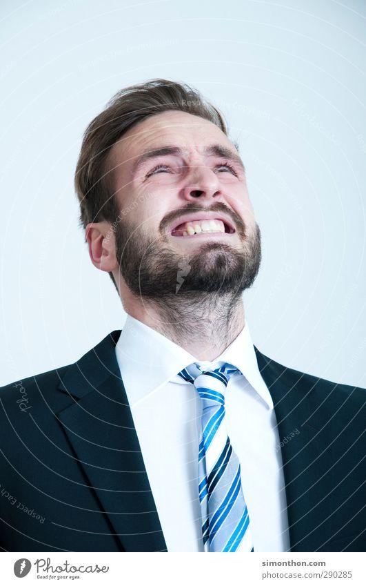 Verzweiflung Mensch Jugendliche Mann Erwachsene 18-30 Jahre sprechen Kopf Arbeit & Erwerbstätigkeit Business maskulin Erfolg Studium Bildung Student Sitzung Wirtschaft