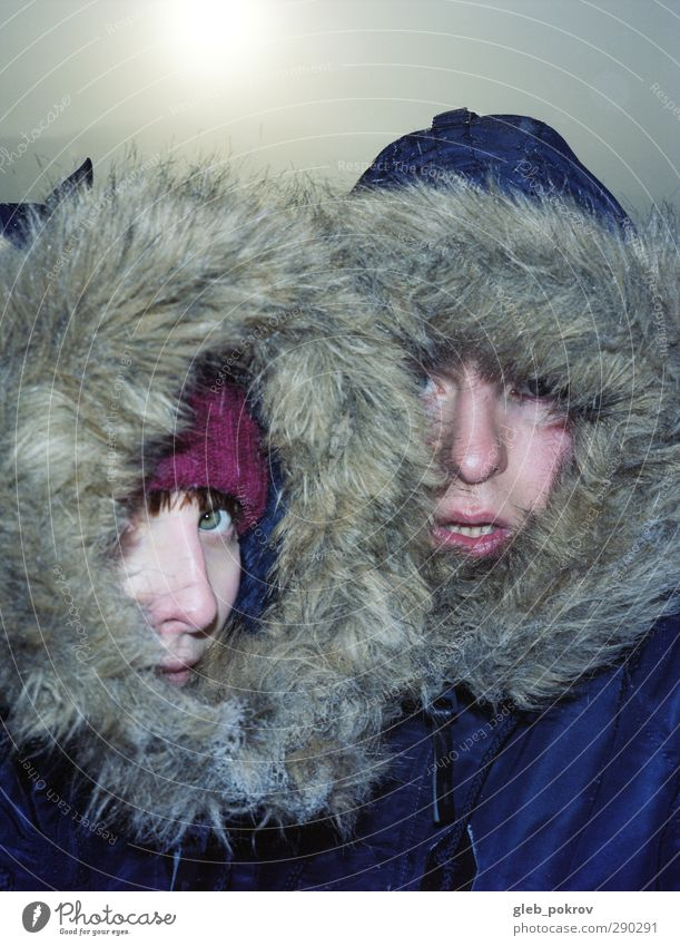 Mensch Natur Jugendliche Sonne Winter Erwachsene Gesicht Junge Frau Liebe kalt Leben Junger Mann Kopf 18-30 Jahre Paar Familie & Verwandtschaft
