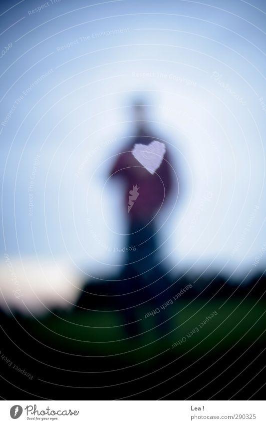 Herzenswunsch Mensch Himmel Natur Jugendliche blau ruhig Landschaft Erwachsene Umwelt Liebe Junger Mann 18-30 Jahre Körper maskulin stehen