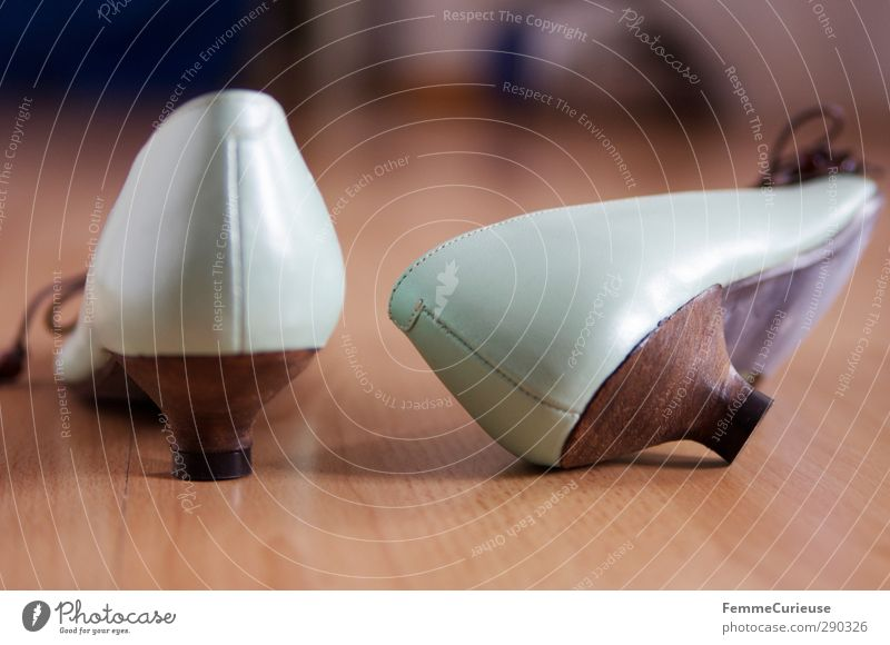 Mintgrün. schön grün Holz Mode liegen braun Business Wohnung glänzend Schuhe stehen Dekoration & Verzierung Bodenbelag Sauberkeit neu flach