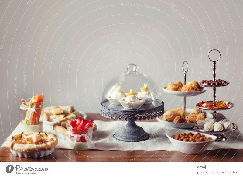 2nd sweet & salty table Ernährung süß lecker Geschirr Teller Schalen & Schüsseln Backwaren Festessen Teigwaren Büffet Brunch Fingerfood Slowfood Etagere