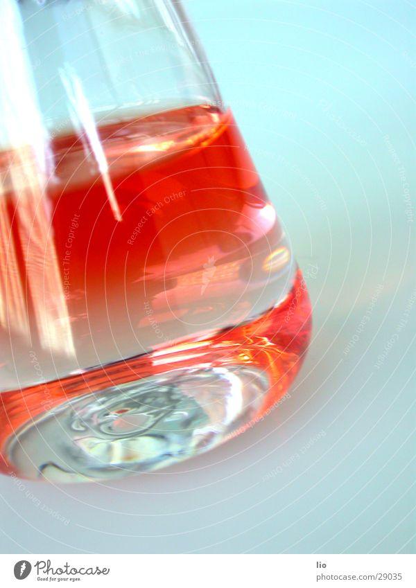 red Erlenmeyerkolben Experiment Labor rot Wissenschaften Chemie Versuch Glas