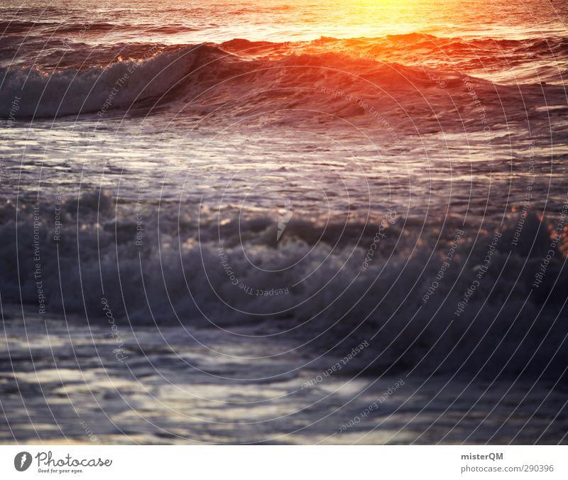 Surfer's Heart. Kunst ästhetisch Sonne Ferien & Urlaub & Reisen Fernweh Urlaubsfoto Urlaubsort Urlaubsstimmung Wellen Wellengang Wellenform Wellenschlag