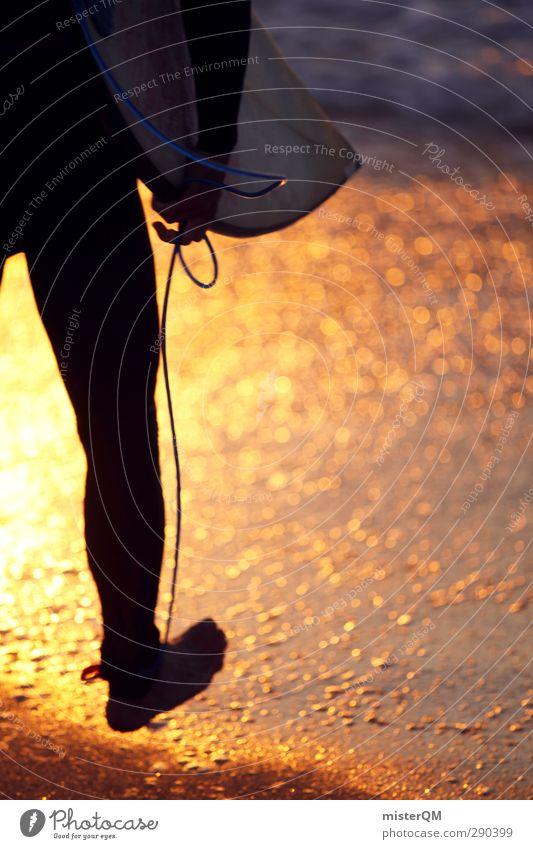 Golden Waves III Kunst ästhetisch Surfen Surfer Surfbrett Surfschule Meer Vorfreude Wellen Wellenbruch Sport sportlich Freizeit & Hobby Lifestyle Feierabend