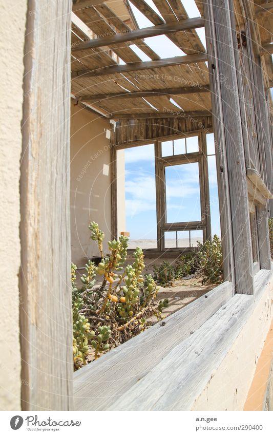 Old Villa Kolmanskop Kolmannskuppe Lüderitz Namibia Afrika Menschenleer Haus Ruine Fenster Einsamkeit Natur Ferne offen Holz Holzfenster verfallen verwittert