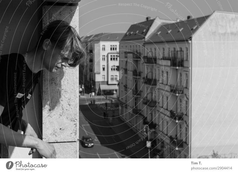 Prenzlauer Berg Mensch maskulin Junger Mann Jugendliche Familie & Verwandtschaft Erwachsene Leben Kopf 1 18-30 Jahre Stadt Hauptstadt Stadtzentrum Altstadt Haus