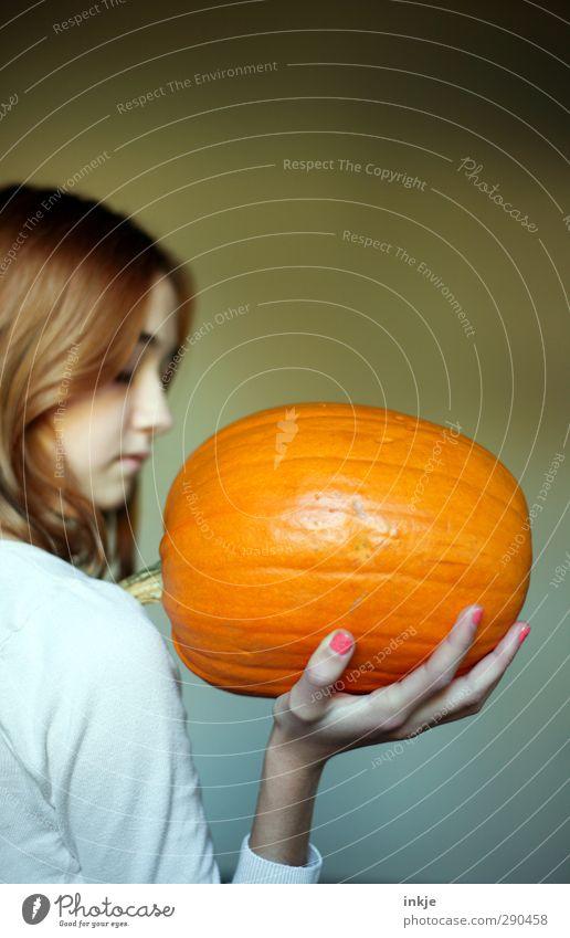 groß, orange, schwer Mensch Kind Jugendliche Freude Mädchen Leben Gefühle Stil Gesunde Ernährung orange Kindheit Freizeit & Hobby groß Wachstum Lifestyle 13-18 Jahre