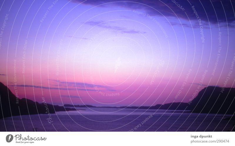 Unterwegs-1997!!! Natur Ferien & Urlaub & Reisen schön ruhig Landschaft Umwelt Küste Horizont träumen außergewöhnlich Idylle Romantik Norwegen Skandinavien Fjord Sommersonnenwende