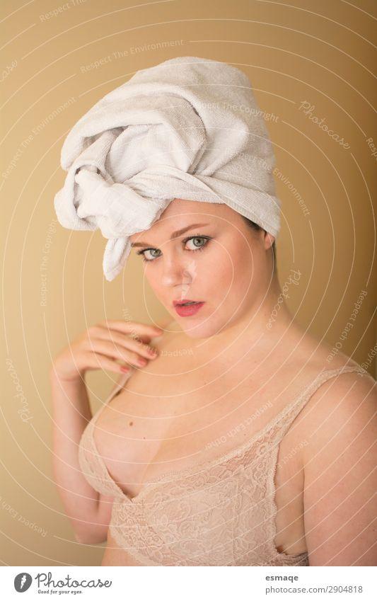 schön Erotik Erholung ruhig Gesundheit Gesicht Liebe natürlich feminin Glück Gesundheitswesen leuchten Haut niedlich Wellness Hut