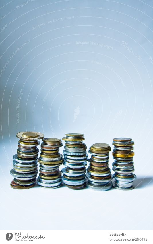 Kleingeld Metall Business Arbeit & Erwerbstätigkeit Erfolg Geld Geldinstitut Handel Wirtschaft bezahlen Stapel Kapitalwirtschaft Geldmünzen Börse Gier Cent geizig