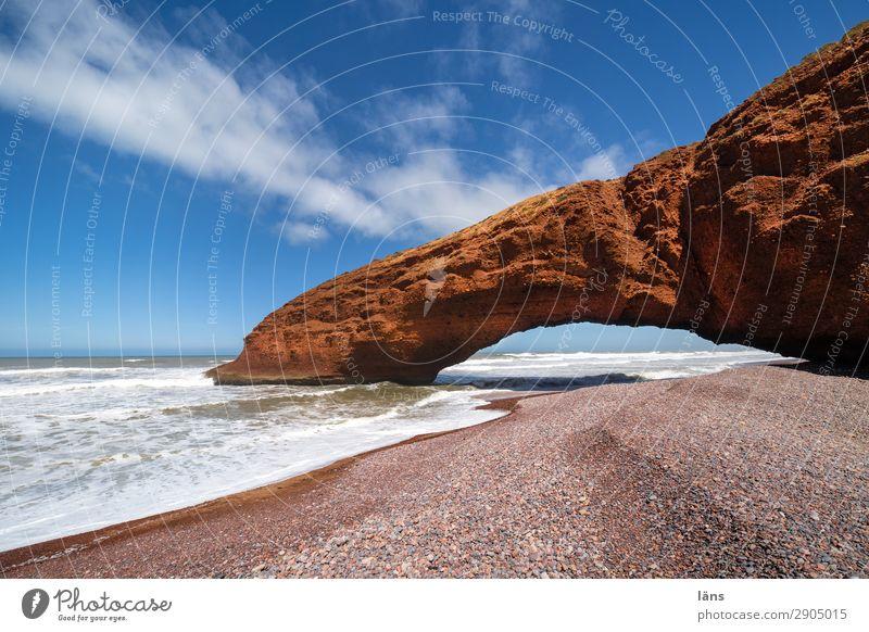 Brückentag Ferien & Urlaub & Reisen Tourismus Ausflug Ferne Sommerurlaub Sonne Badeurlaub Himmel Schönes Wetter Küste Meer Atlantik Marokko Afrika