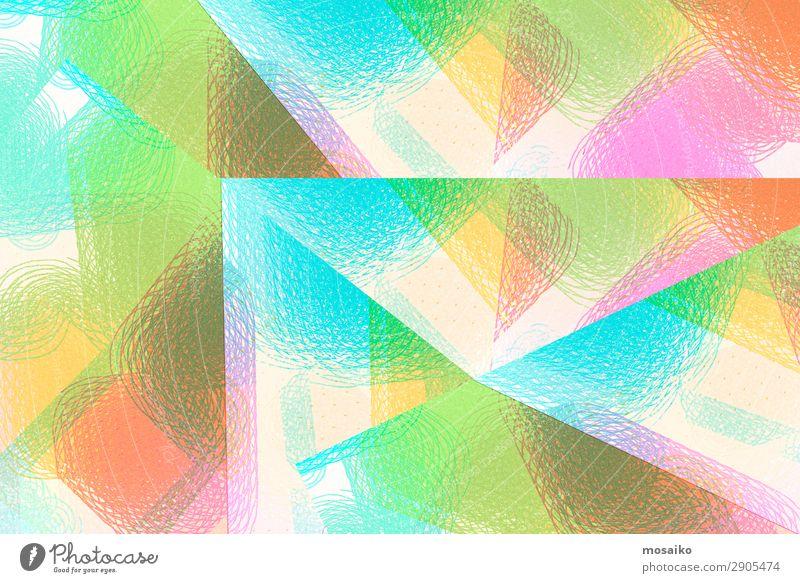 Farbenfroh - Mustermix, abstraktes Design Lifestyle elegant Stil Freude Leben harmonisch Wohlgefühl Zufriedenheit Sinnesorgane Kunst Kunstwerk Vorsicht geduldig
