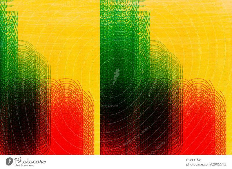 Farbspiel Kunst Graffiti Linie Bewegung Partnerschaft Genauigkeit Inspiration Kommunizieren Kreativität Netzwerk Symmetrie Frequenz Spirale Kreis kreisen grün