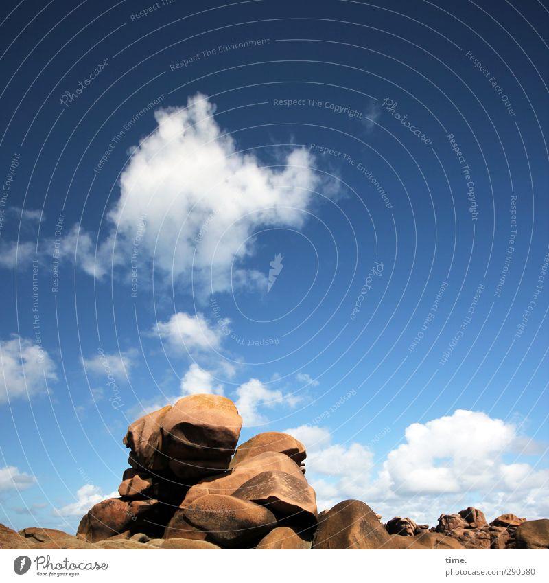 Rauchzeichen Himmel Wolken Umwelt Küste Felsen Stimmung natürlich Tourismus Schönes Wetter ästhetisch Fernweh eckig komplex