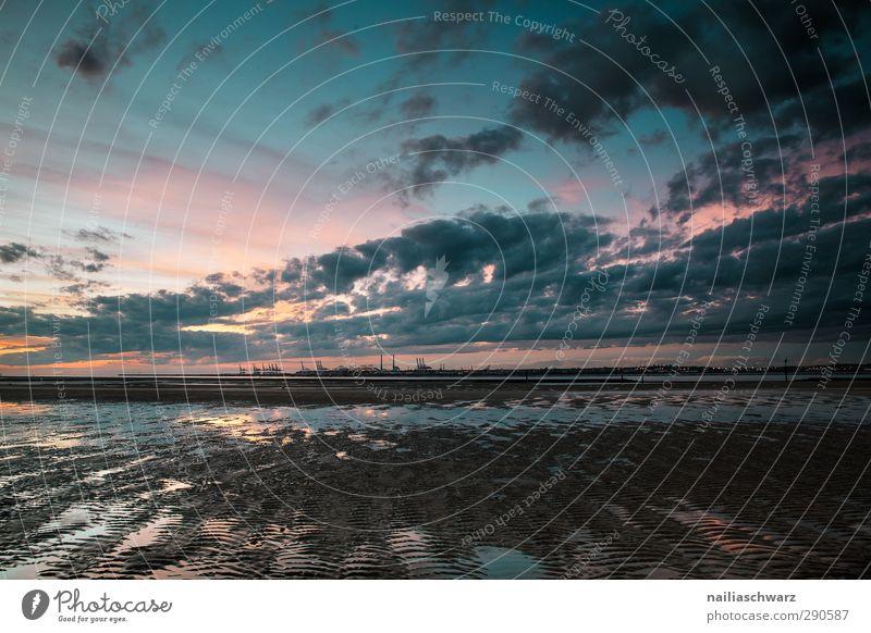 Le Havre, Sonnenuntergang Natur Landschaft Sand Wasser Himmel Sonnenaufgang Sommer Herbst Schönes Wetter Küste Seeufer Strand Meer Atlantik Normandie Frankreich