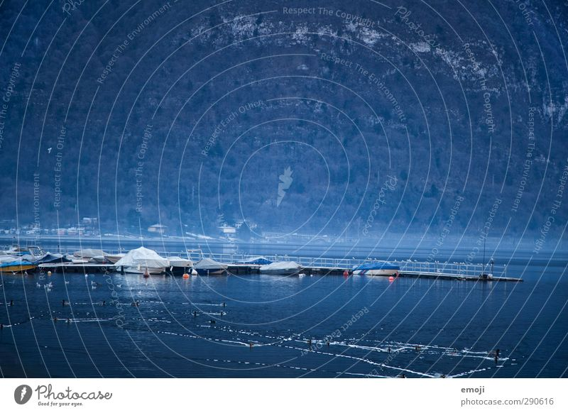 ozeanblau Natur Winter Landschaft Umwelt kalt See natürlich Wasserfahrzeug Seeufer Anlegestelle Comer See