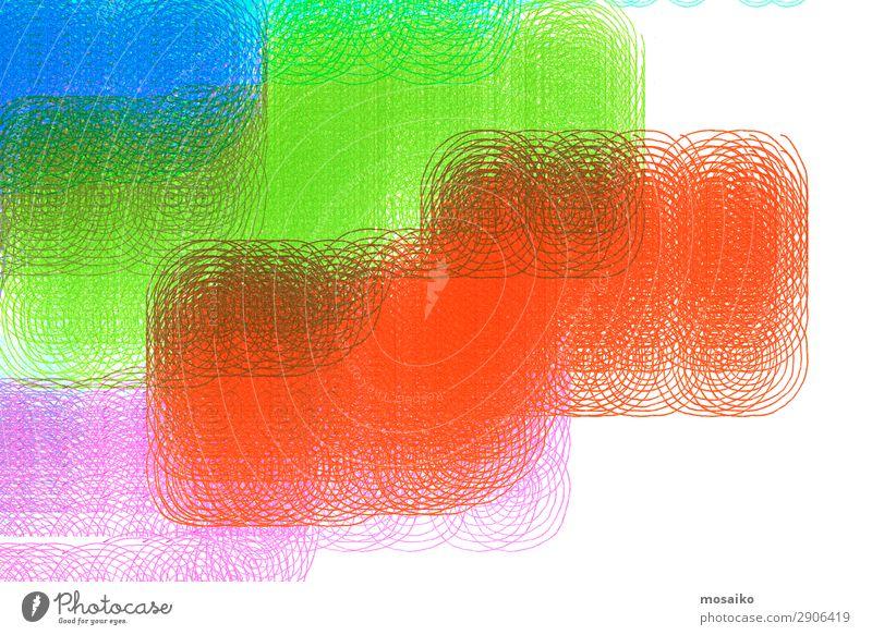 abstraktes Design - bunte Spiralen - grafische Formen Lifestyle elegant Stil exotisch Freude Musik Feste & Feiern Kunst Kunstwerk Kommunizieren komplex Kultur