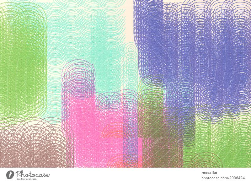 abstraktes Design - bunte Spiralen - grafische Formen Kunst Kunstwerk ästhetisch Zufriedenheit Bewegung Farbe Idee komplex Kraft Kreativität Präzision Symmetrie