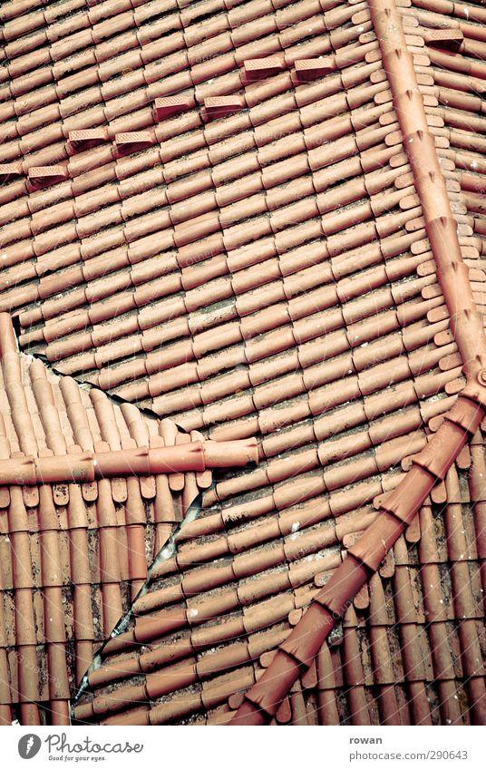 dachlinien Stadt rot Haus Linie Dach Bauwerk Wetterschutz Dachziegel regelmässig Dachgaube Dachdecken