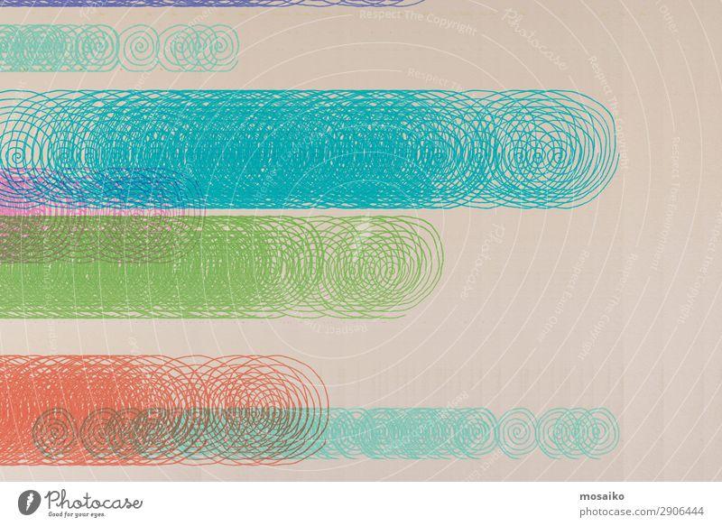 abstraktes Design - bunte Spiralen - kreative Grafik Lifestyle elegant Stil Freude Kunst Kunstwerk Glück schön gewissenhaft komplex Konzentration Kreativität