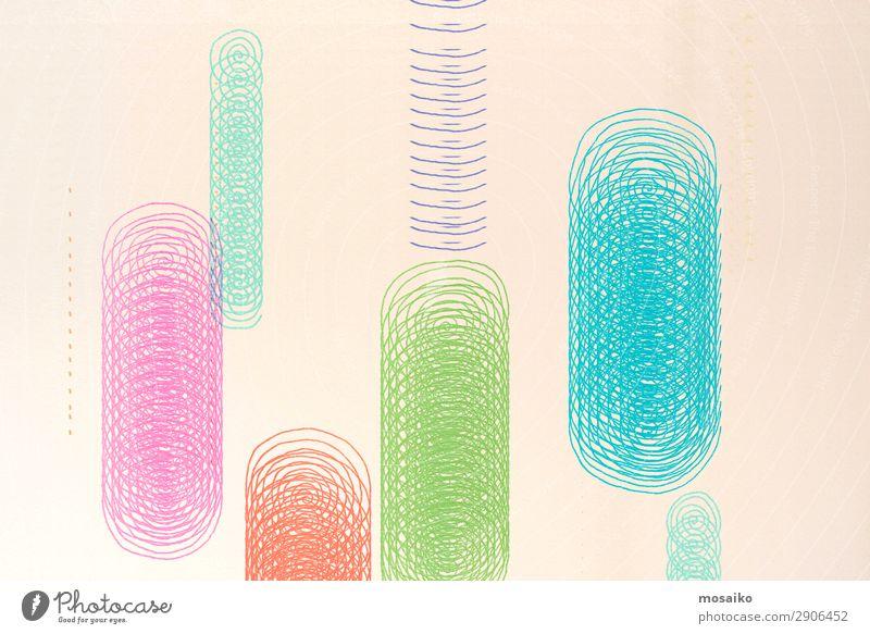 buntes Spiraldesign - handgezeichnet Kunst Kunstwerk Gemälde Kultur Veranstaltung Show Party einzigartig elegant Kommunizieren komplex Kontakt Konzentration