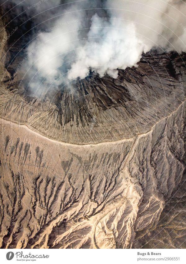 Der Krater Umwelt Natur Landschaft Urelemente Erde Sand Feuer Luft Klima Klimawandel Wärme Vulkan Bromo Schlucht Wüste ästhetisch außergewöhnlich bedrohlich