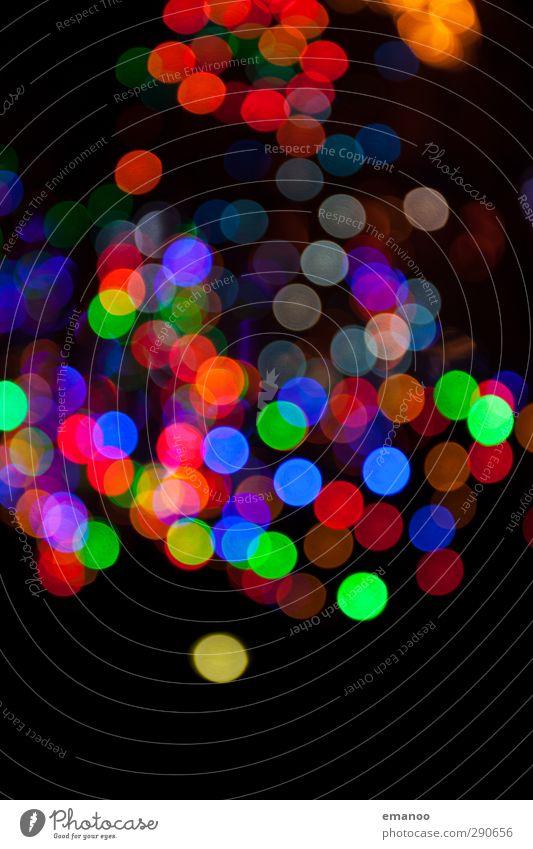 bokeh balls Freude Lampe Nachtleben Weihnachten & Advent Technik & Technologie Energiewirtschaft Kunst Veranstaltung Show leuchten hell blau mehrfarbig grün rot