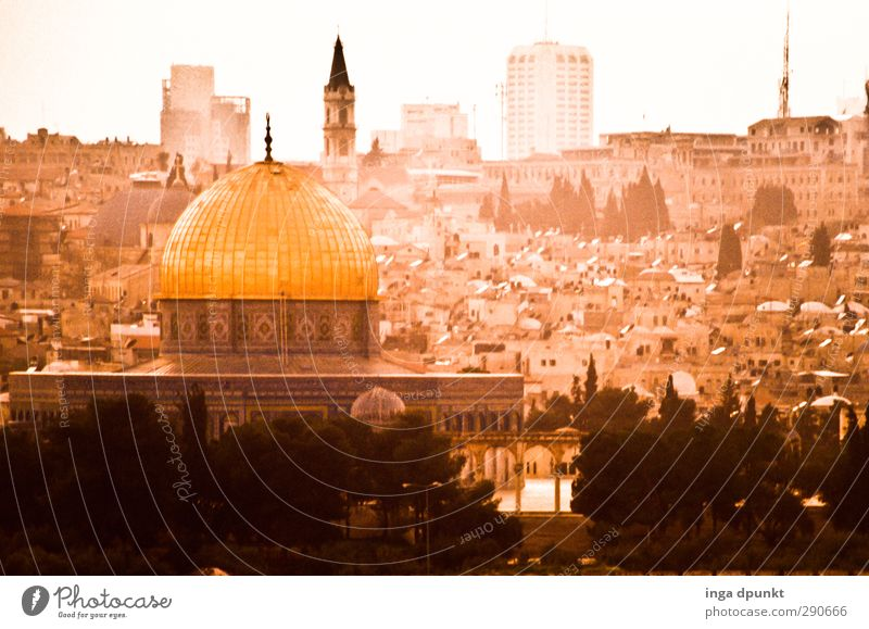 Jerusalem Israel Naher und Mittlerer Osten Hauptstadt Altstadt Felsendom Kultur Politik & Staat Ferien & Urlaub & Reisen Tourismus Religion & Glaube zentral Dia