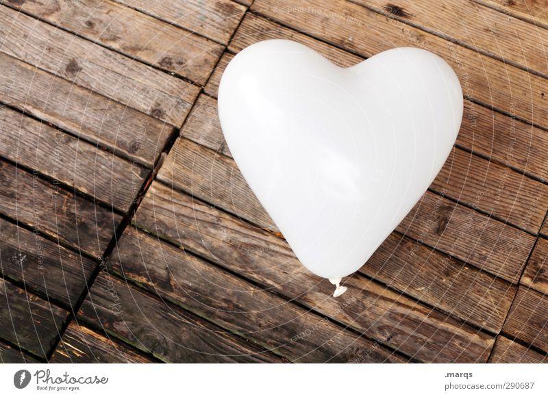 Reines Herz Lifestyle Design Feste & Feiern Valentinstag Muttertag Hochzeit Geburtstag Dekoration & Verzierung Luftballon Holz Zeichen einfach schön braun weiß