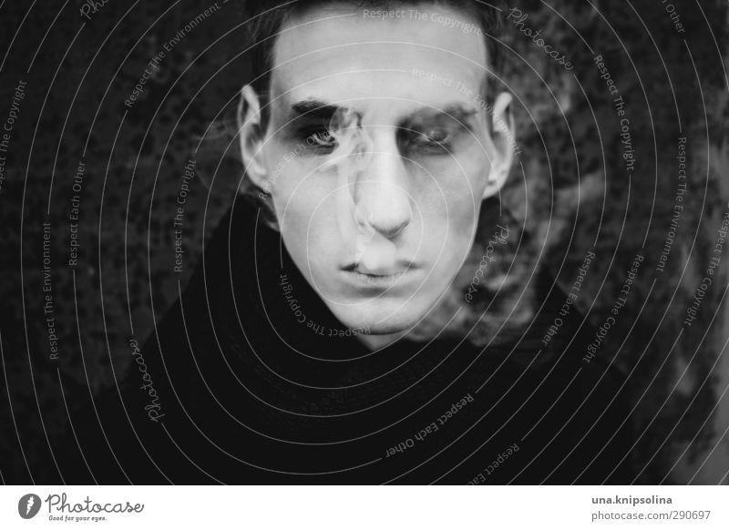 mephisto Mensch Jugendliche schön schwarz Erwachsene Gesicht Auge dunkel Junger Mann Erotik Gefühle 18-30 Jahre Denken Stil träumen außergewöhnlich