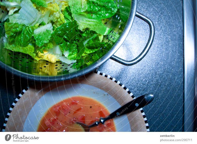 Salat Frucht Lebensmittel Zufriedenheit frisch Ernährung Kochen & Garen & Backen Küche Gemüse Wohlgefühl Geschirr Bioprodukte harmonisch Mahlzeit
