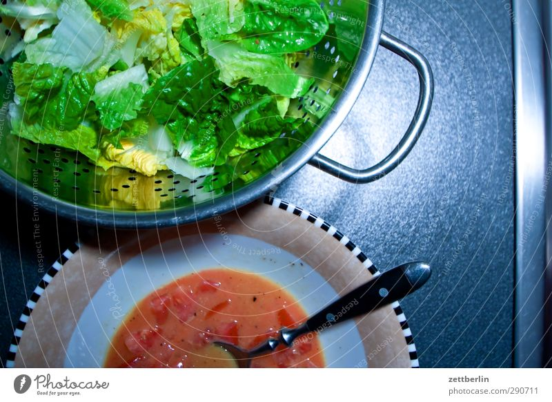 Salat Frucht Lebensmittel Zufriedenheit frisch Ernährung Kochen & Garen & Backen Küche Gemüse Wohlgefühl Geschirr Bioprodukte harmonisch Mahlzeit Schalen & Schüsseln Diät Salat