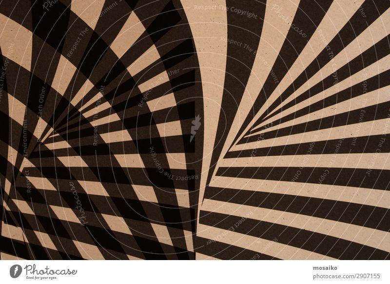 grafische Streifen auf Papier - schwarz und beige Stil Design Kunst Kunstwerk ästhetisch trendy retro braun beweglich Leben Zufriedenheit einzigartig Idee