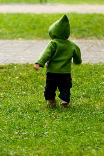 Running Kid Freude Glück Kind Kindheit Leben 1-3 Jahre Kleinkind Frühling Gras Park Wiese laufen lernen rennen Spielen Wachstum Gesundheit klein natürlich